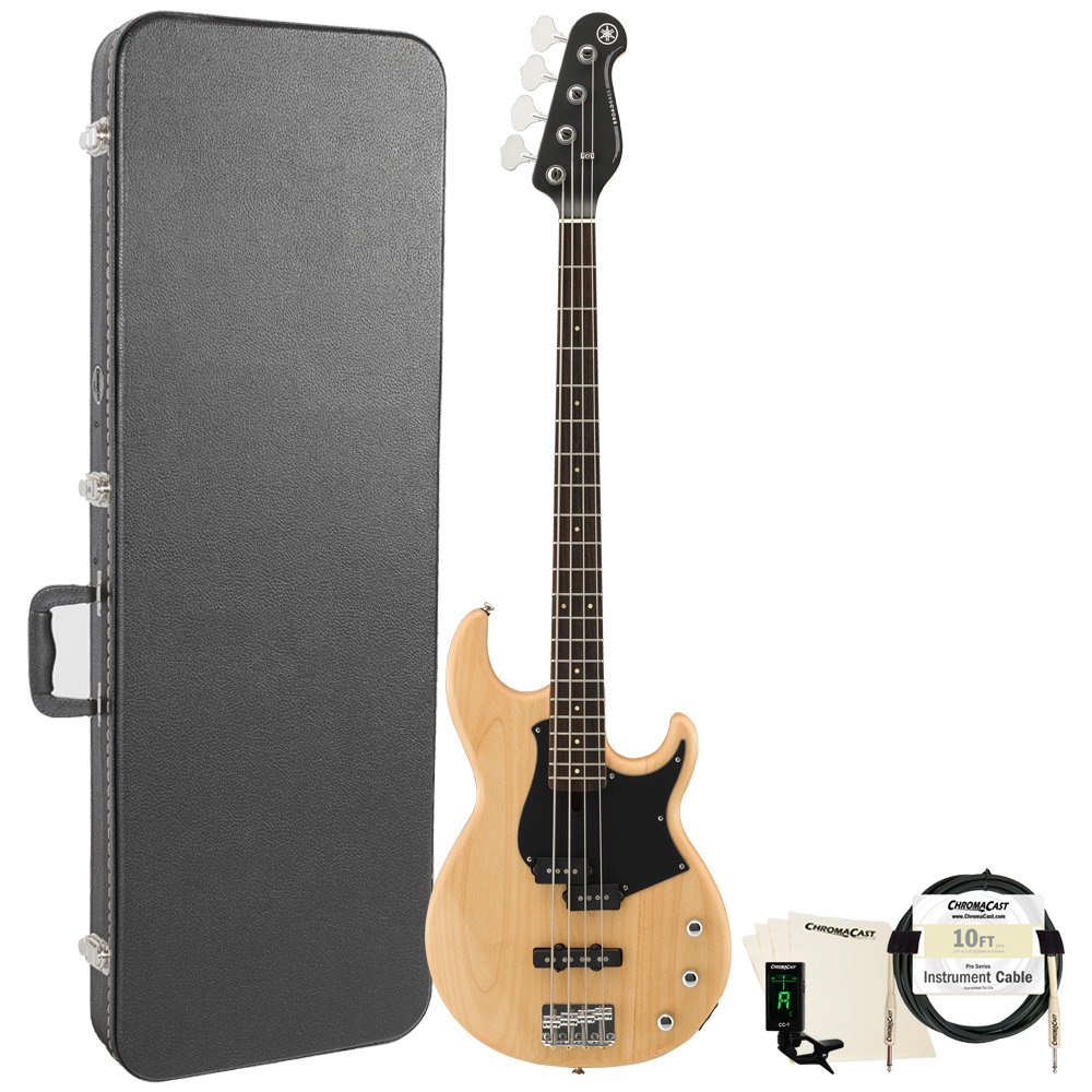 Yamaha BB234 BB-Series 4-String Bass Guitar with Hard Case and Accessories, Yellow Natural Satin BB424X TBS