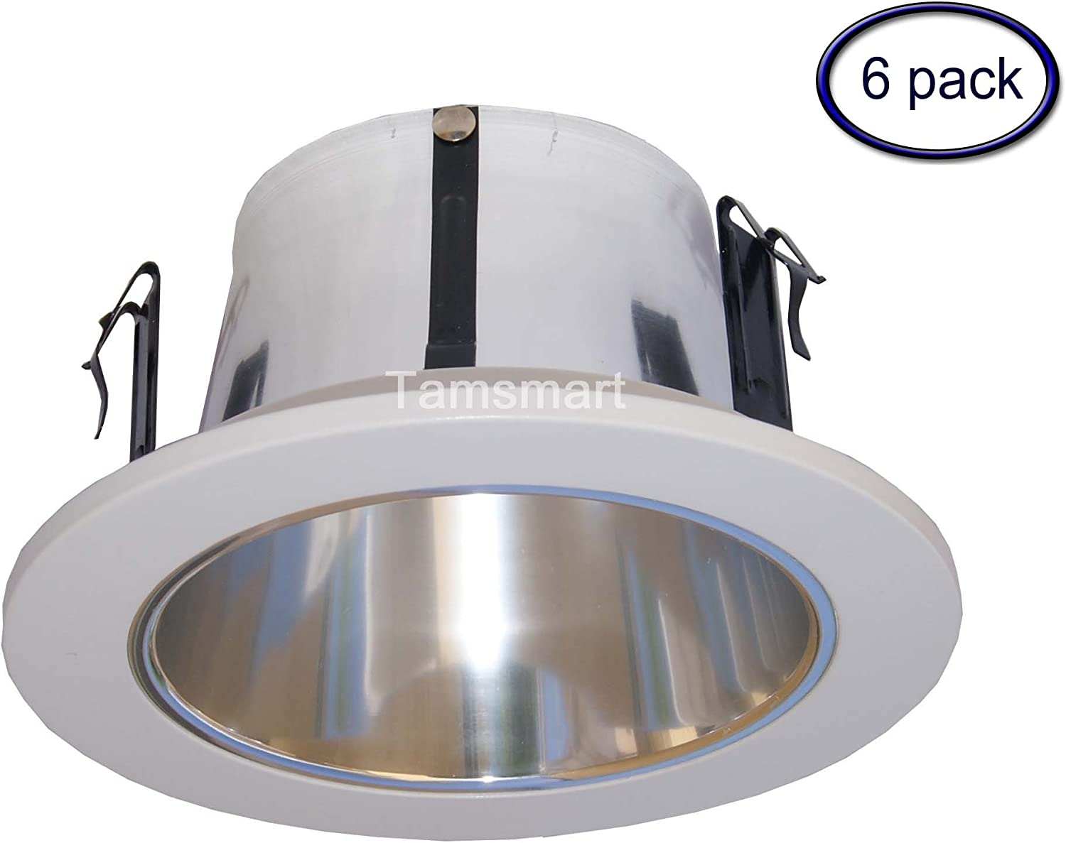 6 Trim Reflector Cone White with Clear Specular Reflector Cone HALO 426