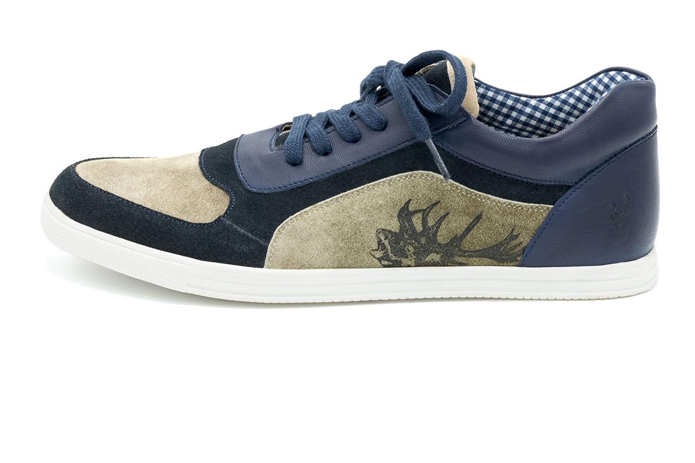 Spieth & Wensky Zapato de Media Caña de Lona Hombre Azul