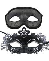 Couple Masquerade Metal Masks Venetian Halloween Costume Mask Mardi Gras Mask