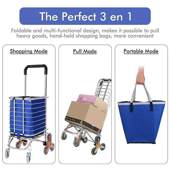 Amazon.com: Quklei carrito de la compra plegable escalera ...