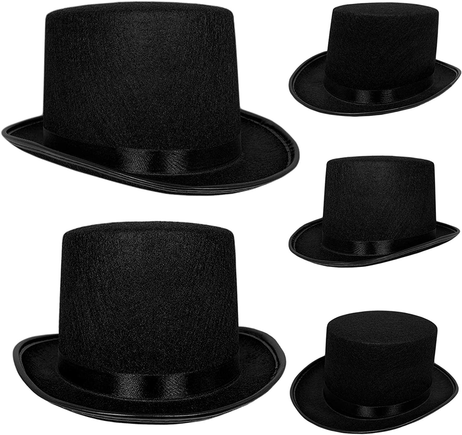 Top Hat Black Felt | One Size Magician Hat Costume | DIY Steampunk | Ultra Ringmaster Circus Hats | Dress Up Party Accessory | By Anapoliz: Toys & Games