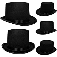 Top Hat Black Felt | One Size Magician Hat Costume | DIY Steampunk | Ultra Ringmaster Circus Hats | Dress Up Party…