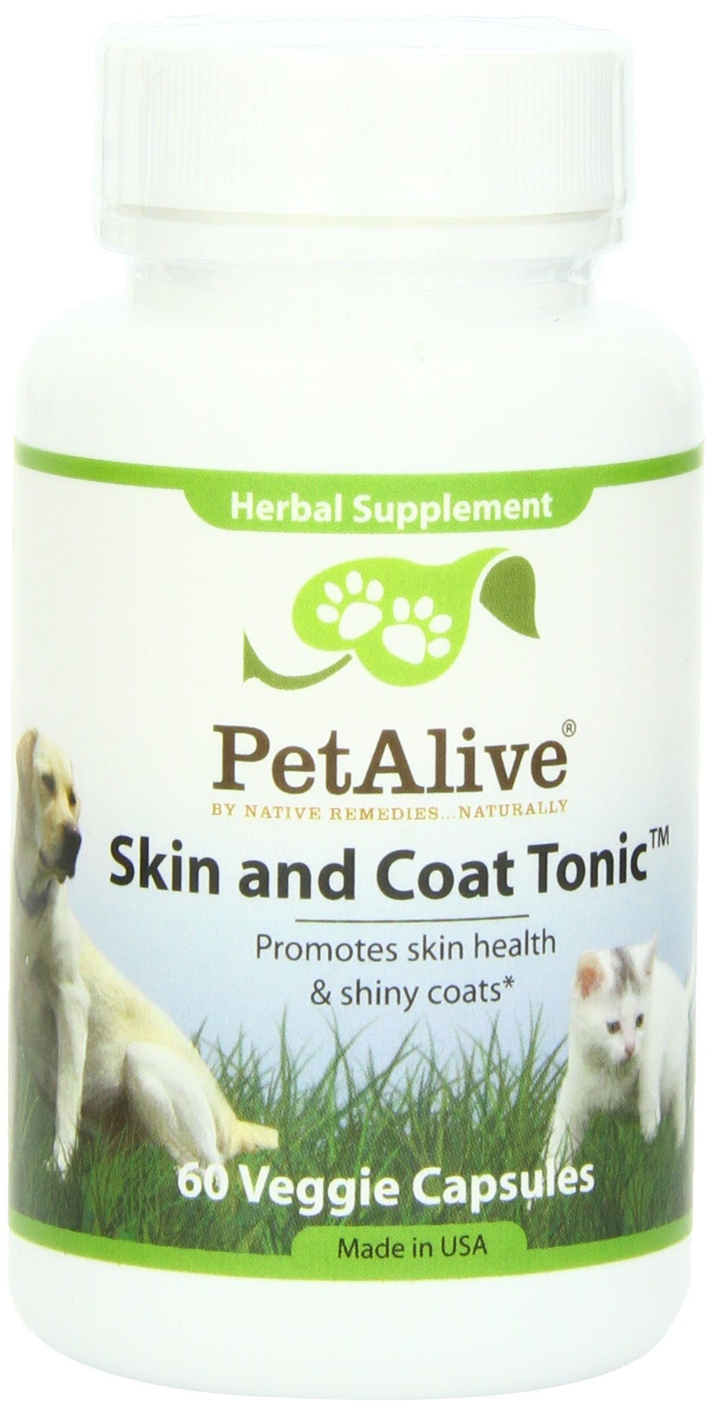 PetAlive Skin and Coat Tonic for Healthy Skin (60 Caps)