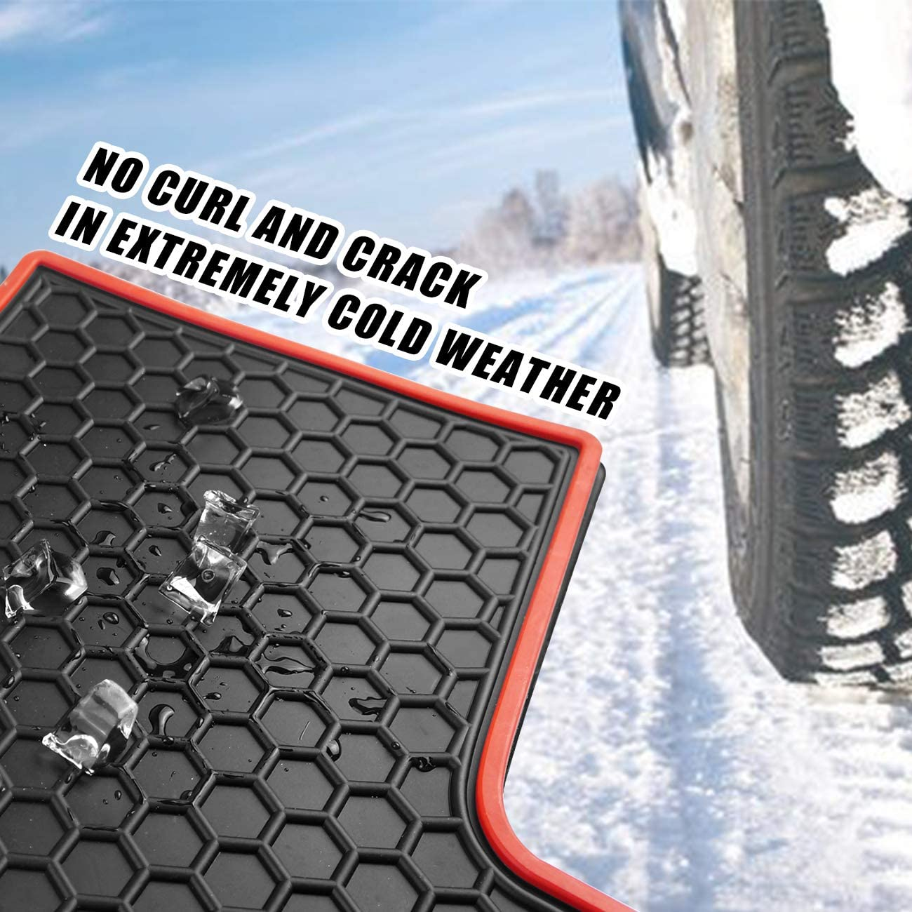 orealauto Car Floor Liners Mats for Jeep Renegade 2015 2016 2017 2018 2019 2020 Vehicle Front and Rear Heavy Duty Rubber Full Black Carpet Set Custom Fit-All Weather Guard Odorless