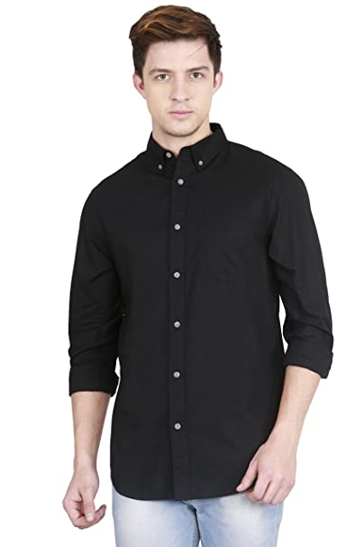 d61f5e9f83bb42 Old Navy Slim-Fit Poplin Shirt for Men: Amazon.in: Clothing & Accessories