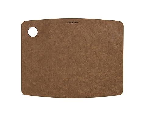 Topgourmet Tabla de Cortar, Composite Madera y Resina Reciclado, Marrón, 22.9 cm,