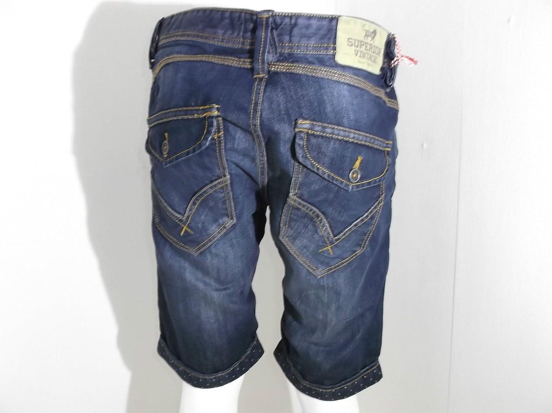 Bermuda in Jeans Uomo sv52 con Risvolto Modello Chino