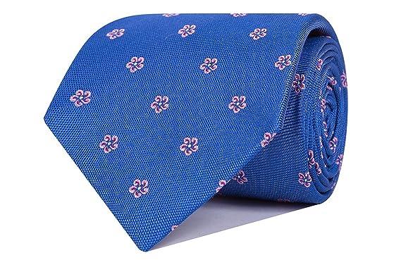 SoloGemelos - Corbata Seda Flores Rosas - Azul, Rosa - Hombres ...