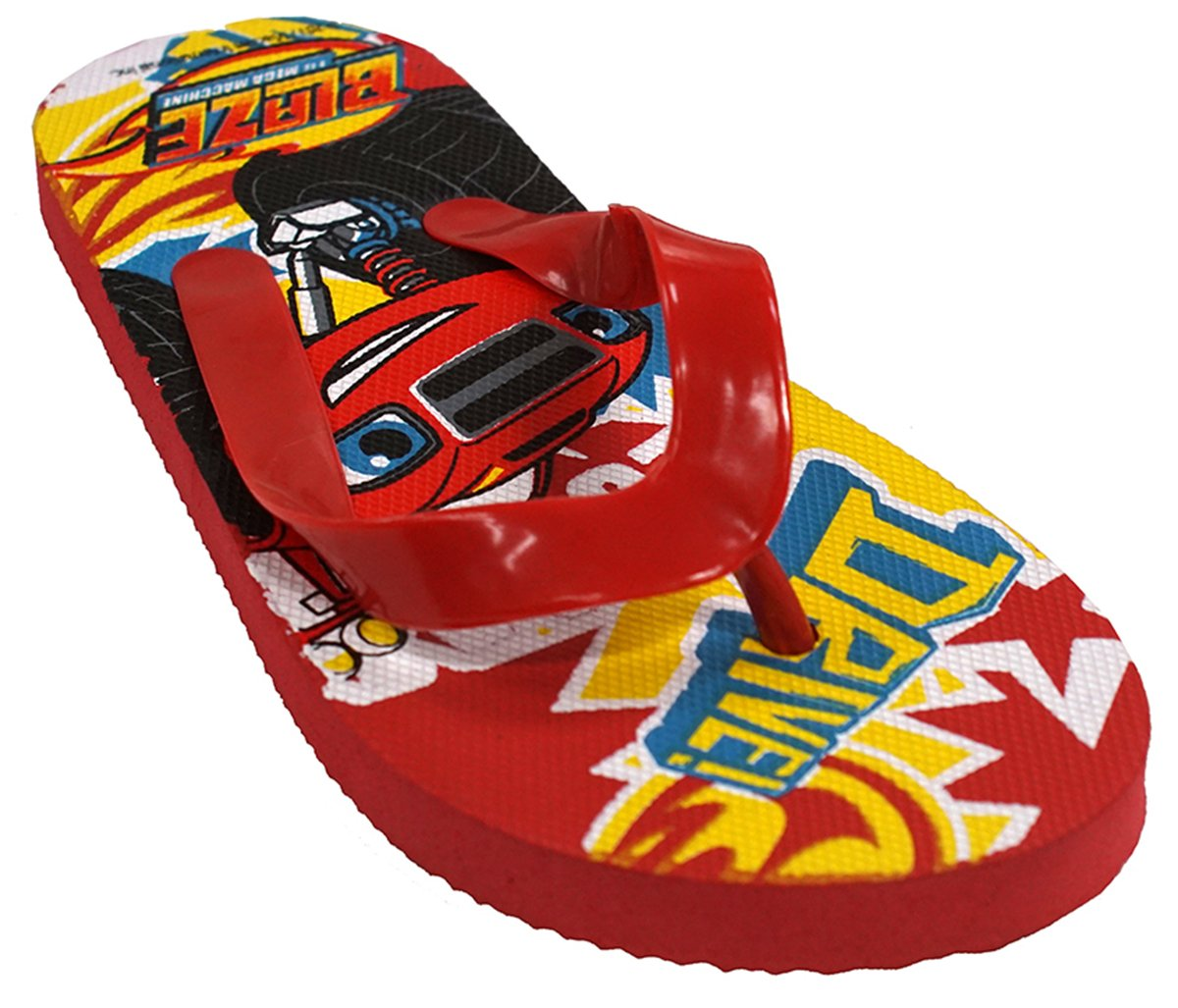 Boys Flip Flops Monster Machines Blaze Beach Sandals UK Shoe Sizes from 8 to 13