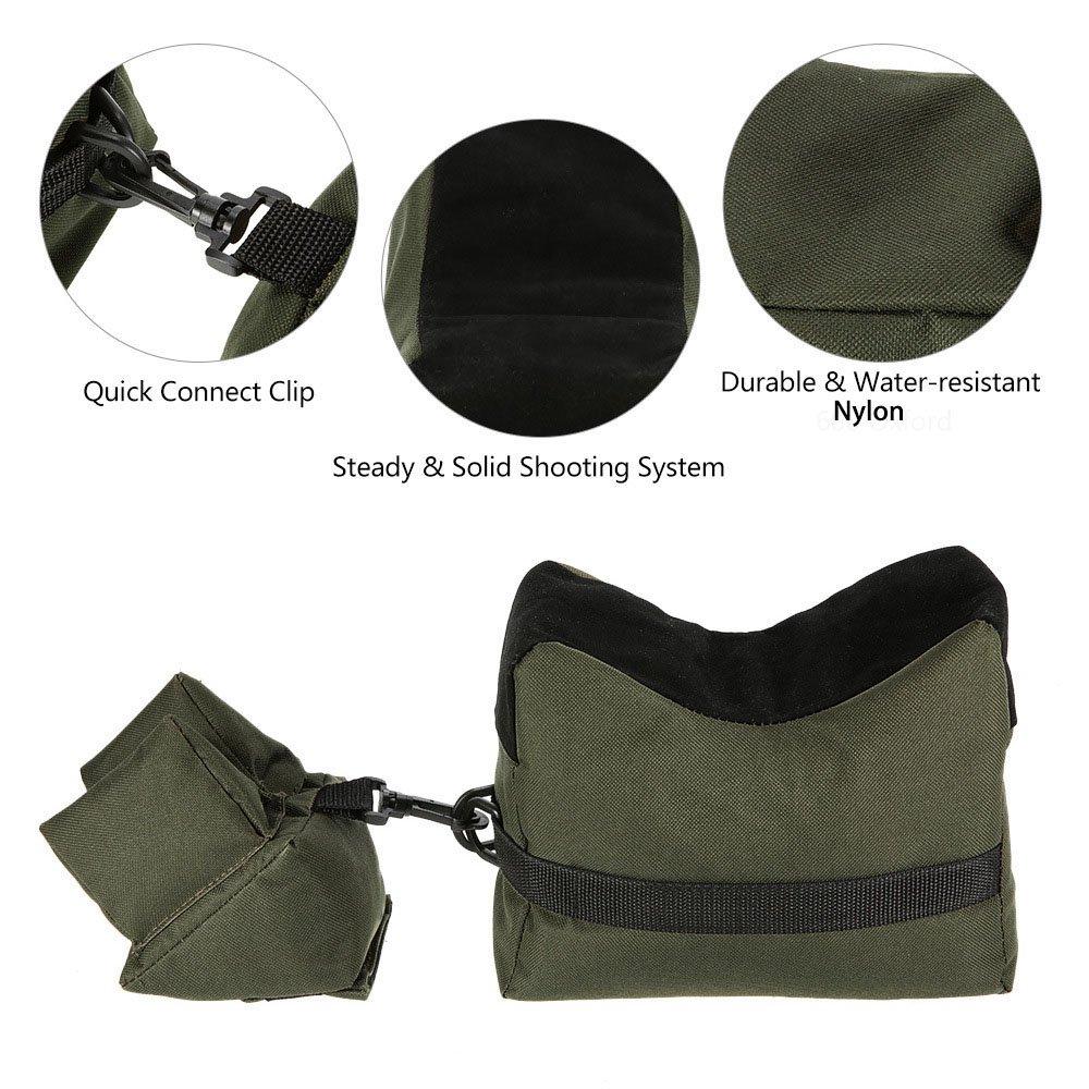 Outdoor connection 3 pièce camouflage benchrest rifle bench rest bag set