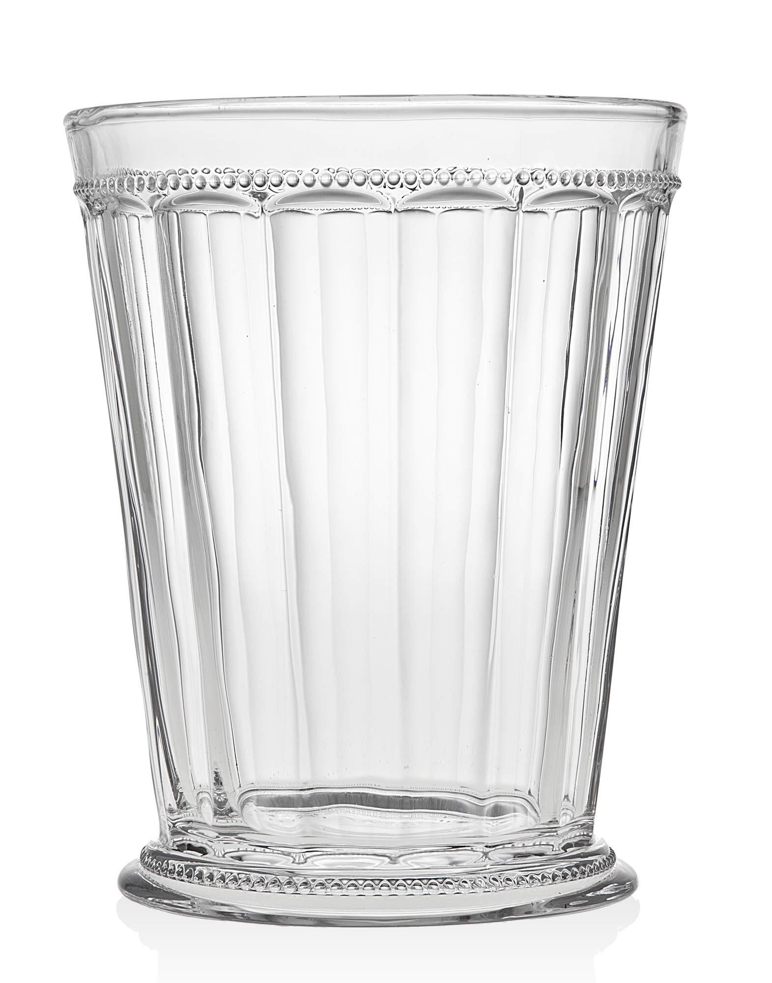Godinger Hamilton House Bath Bucket Crystal Wastebasket Garbage Can