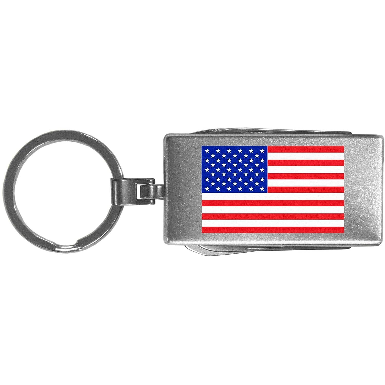 Siskiyou Automotive One Size SMTC109 Grey United States Flag Multi-Tool Key Chain