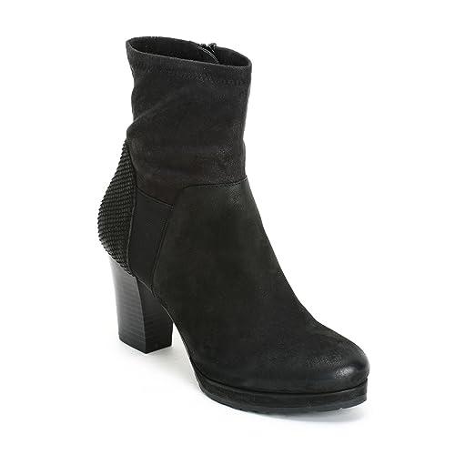 ALESYA by Scarpe&Scarpe - Botines Altos con caña de Tejido elastizado, con Tacones 8 cm