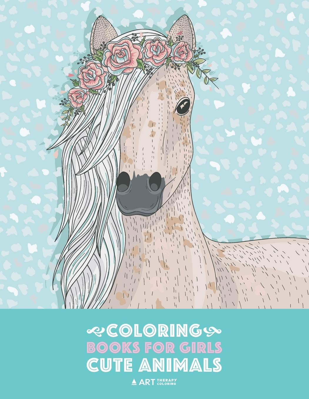 Coloring Books For Girls Cute Animals Relaxing Colouring Book For Girls Cute Horses Birds Owls Elephants Dogs Cats Turtles Bears Rabbits Ages 4 8 9 12 13 19 Art Therapy Coloring 9781641261036 Amazon Com Books