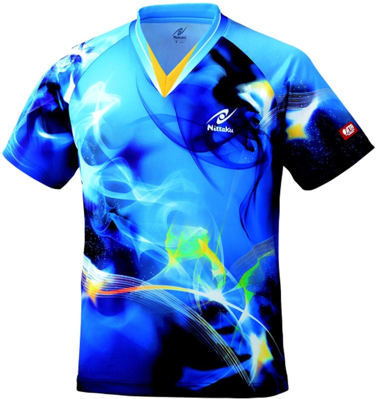 ニッタク 男女兼用 卓球 ユニフォーム スカイマジカルシャツ NW2162 ブルー