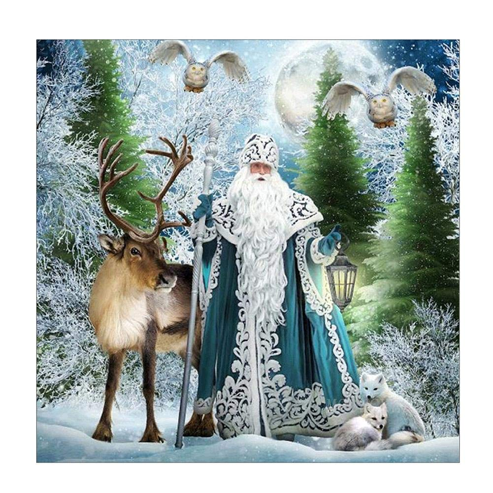 Mikolot Santa Claus Diamond Painting – Diamond Painting kit 5D DIY Diamond Painting ricamo punto croce Craft Home Decoration Art 30 * 30 cm
