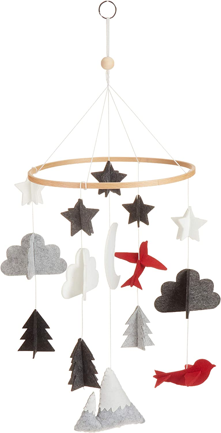 Baby Crib Mobile Wind Chimes Moon Woodland Play Nursery Decoration Starry Night
