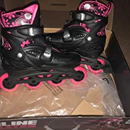 Amazon Com Customer Reviews High Bounce Adjustable Inline Skate Pink X Large 9 12 Abec 7