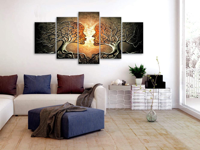 Lord Ganesha die hinduistischen G/ötter Art Ganesh Art 70x100cm ohne Rahmen K98 EUpMB Bilder Leinwandbilder Bild auf Leinwand Vlies Wandbild Kunstdruck Wanddeko