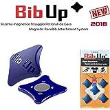 BIBUP 2018 SISTEMA MAGNETICO FISSA PETTORALI DA GARA(BLU GLITTER)