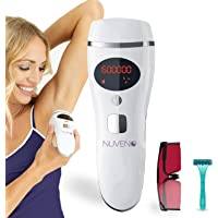 Nuveno IPL Hair Removal for Women and Men! 600,000 Flashes, Permanent Hair Removal Device- IPL Laser Hair Remover Machine for Leg, Arms, Face and Bikini Hair Removal. Arctic White, At Home System