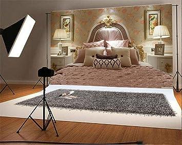 YongFoto 2,2x1,5m Toile de Fond Papier Peint doré décoratif Chambre ...