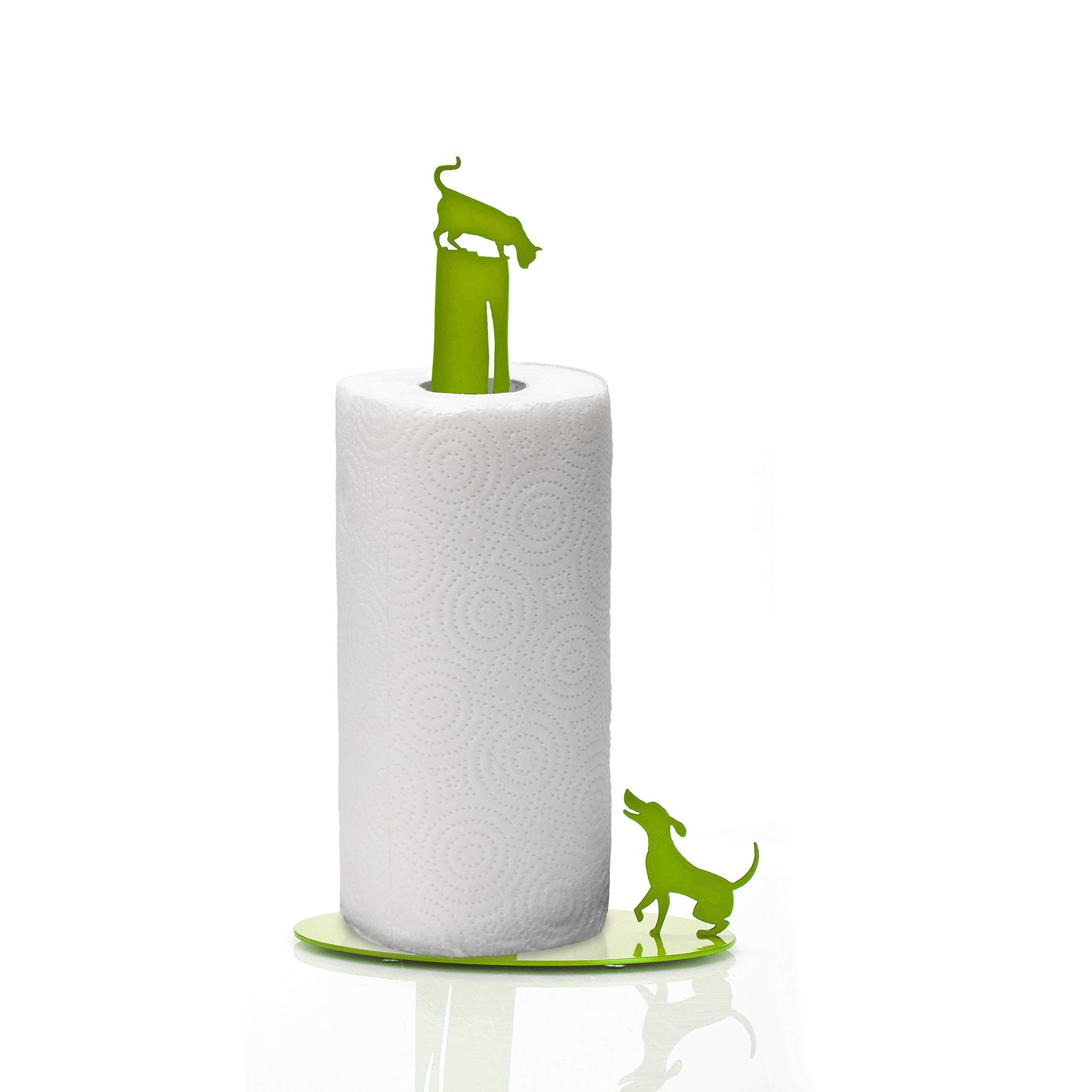 Artori Design Dog vs Cat | Paper Towel Stand Holder | Cute Design Rack| Perfect Gift