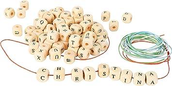Dadi da infilare colorati con lettere creazione collane braccialetti personal...