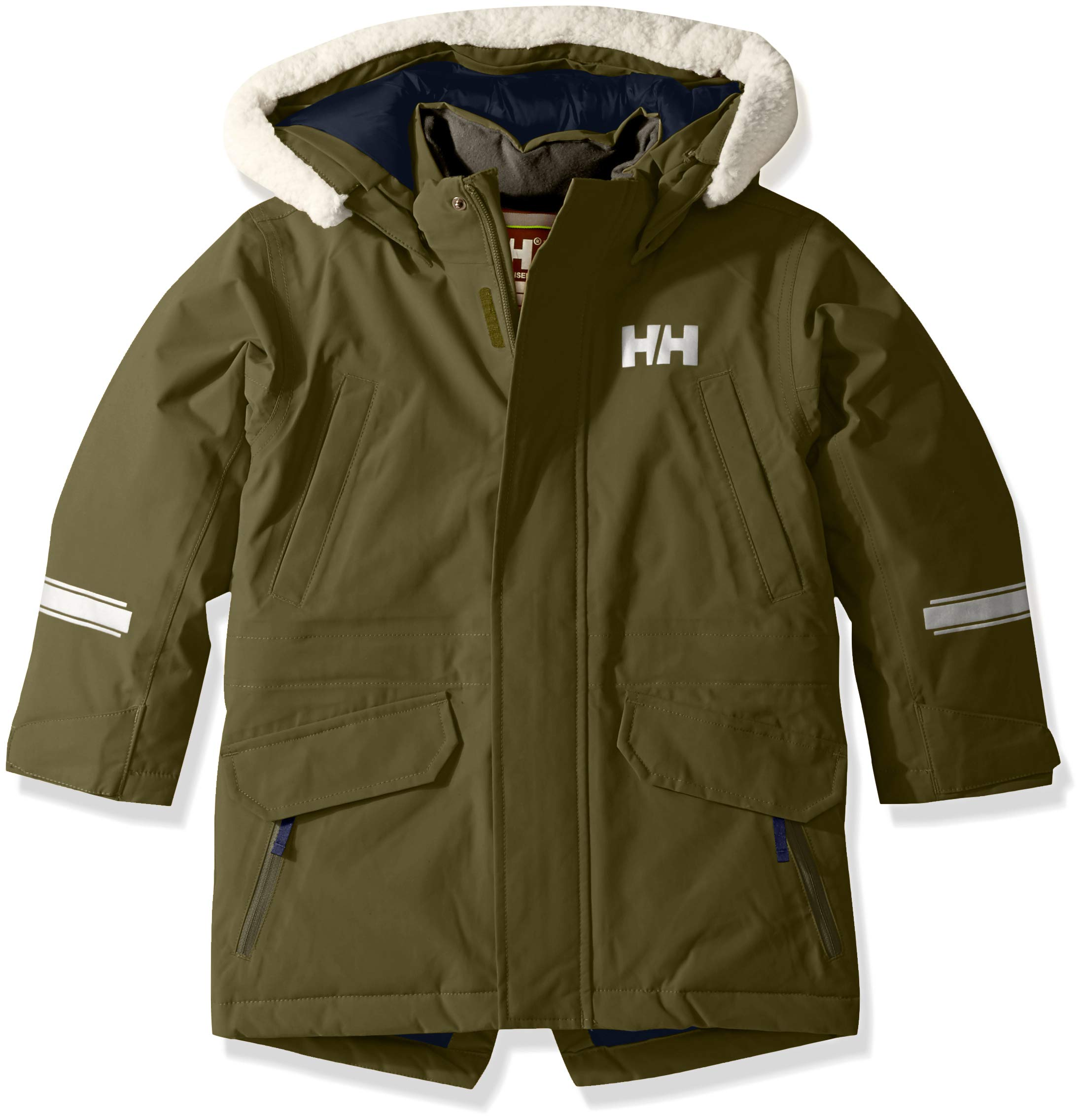 Helly Hansen K Isfjord Down Parka Jacket, Ivy Green, Size 7
