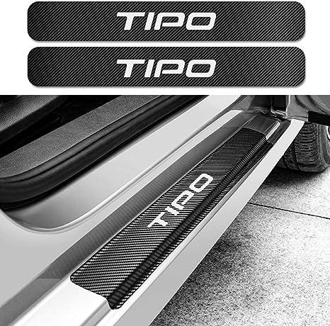 per Fiat Tipo SJWMXN 4PCS Adesivo Piastra soglia Auto Protezione Fibra di Carbonio
