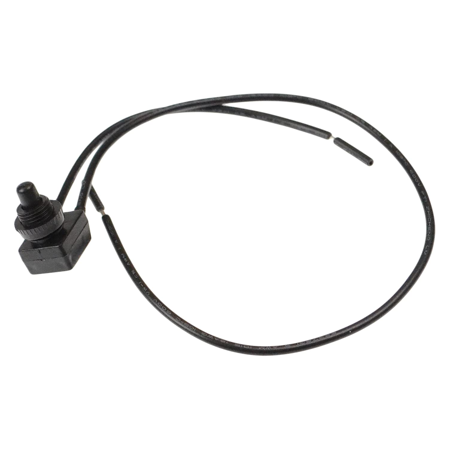 Heng's 27-0164 Roof Vent Push Button Switch with Wires - Black Heng' s Industries