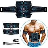 ELEAD Smart Abdominal Muscle EMS Abs Stimulator Muscle Trainer Portable Wireless Portable Unisex Fitness Training Gear for Abdomen Arm Leg Waist Hip Training Home Office Exercise Equipment(Blue)
