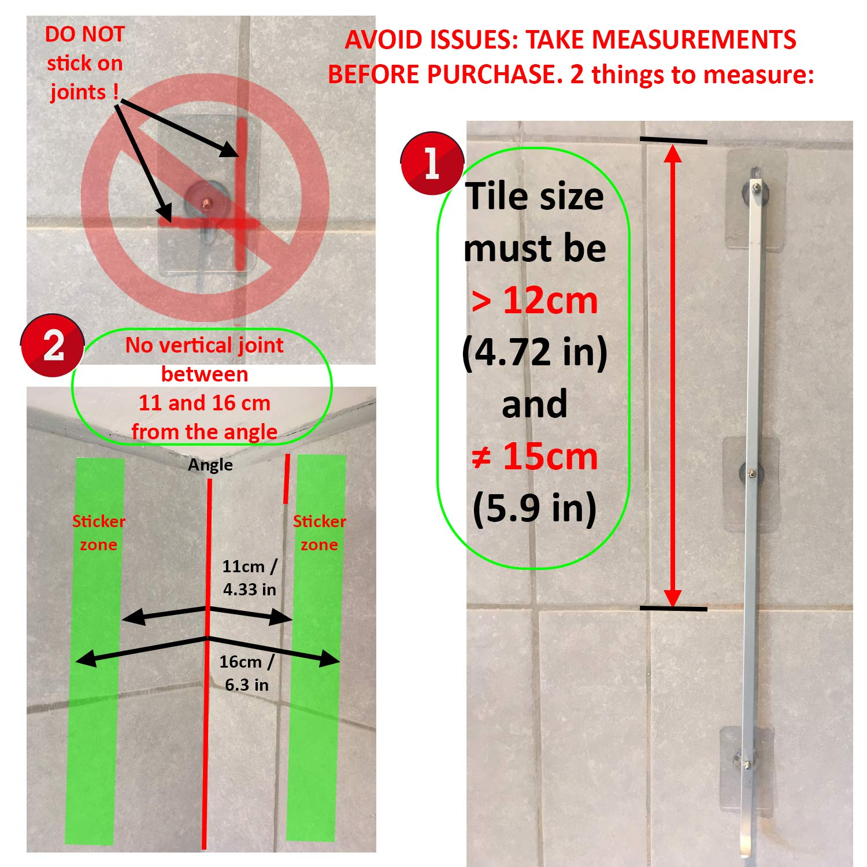 Prueba DE /ÓXIDO Adhesivos s/úper Fuertes Cuarto de ba/ño Montaje Esquina Cesta de Rack sin perforaci/ón Esquina de la Ducha Estante Carrito 2 Niveles en Aluminio