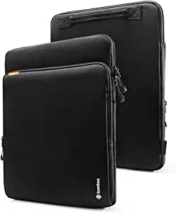 """tomtoc 360° Protection Laptop Sleeve Designed for 12.3"""" Microsoft Surface Pro 6/5/4/3/2/1, with Handle & Organized Pocket for Surface Accessories, Cordura Fiber"""
