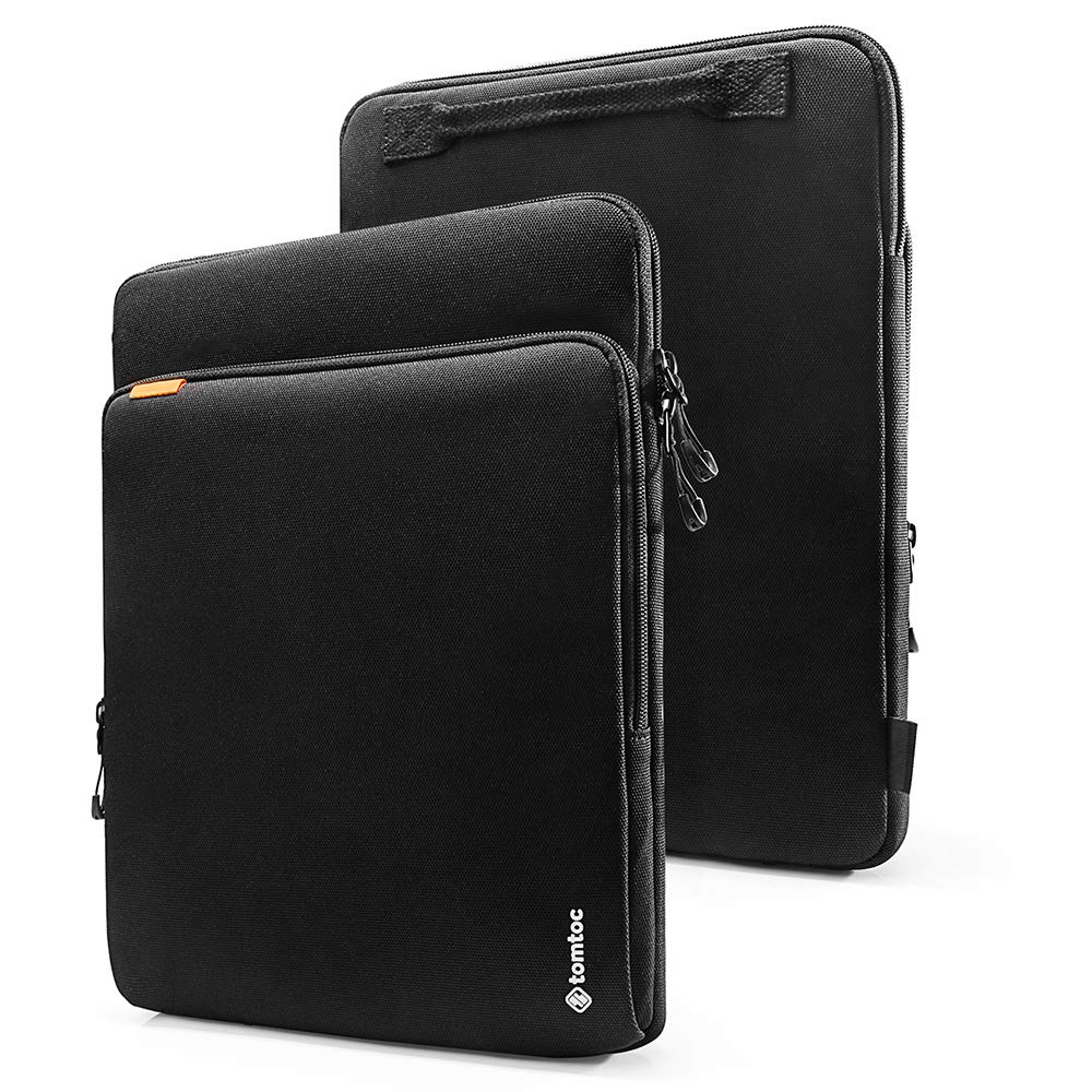 tomtoc 360 Protection Laptop Sleeve Designed for 15 Inch New MacBook Pro with USB-C A1707 A1990, with Handle and Organized Pocket for MacBook Accessories, Cordura Fiber