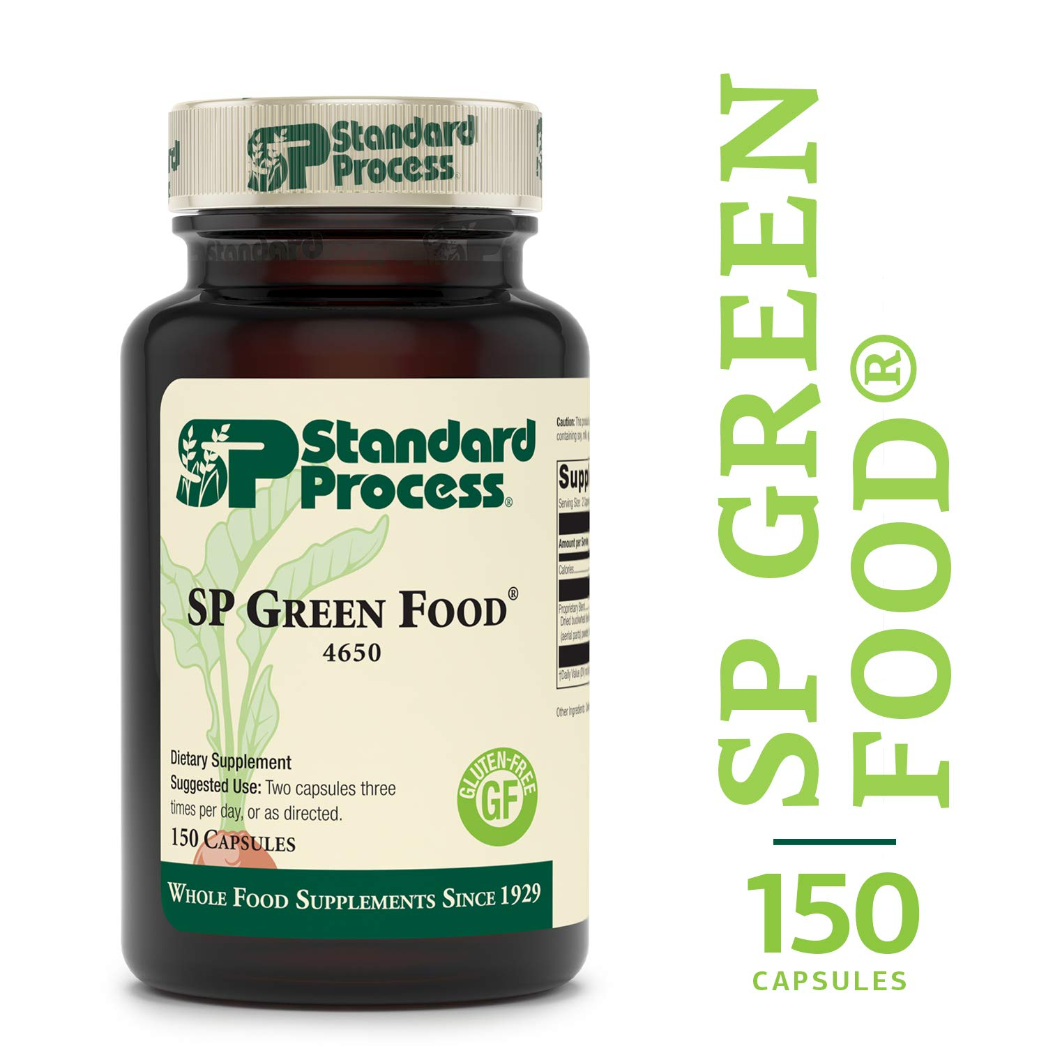 Standard Process – SP Green Food – Supports Healthy Liver Function, Antioxidant Activity, Cholesterol Metabolism, Gluten Free and Vegetarian – 150 Capsules