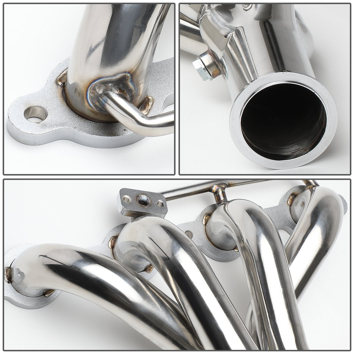 DNA Motoring HDS-CCV97C5+XP Stainless Steel Exhaust Header Manifold with X-Pipe