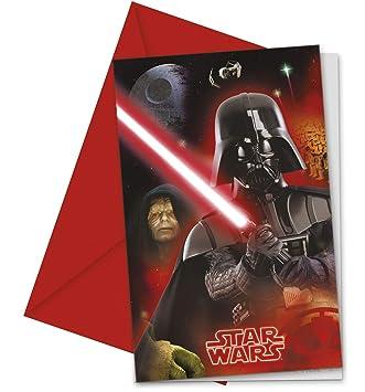 COOLMP Lote de 12 Invitaciones de Star Wars - Tamaño único ...