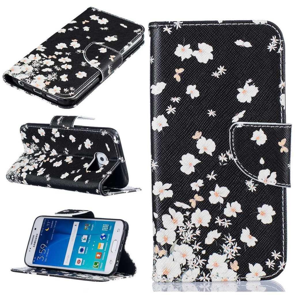 3818aa75ce Samsung Galaxy 1R05S6E-1302 S6 Edge ケース 手帳型 UNEXTATI 軽量 全面 ...