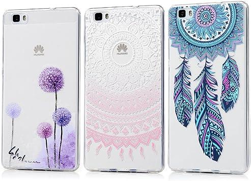 KASOS 3 x Fundas Huawei P8 Lite 2015/2016, Carcasa para Huawei P8 Lite 2015/2016 Case Silicona TPU Blanda Ultrafina: Amazon.es: Electrónica