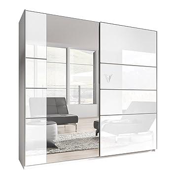 Kleiderschrank weiß hochglanz mit spiegel  Kleiderschrank Bora VI, Elegantes Schlafzimmerschrank ...