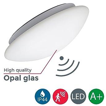 B.K. Licht Plafonnier LED Avec Détecteur De Mouvements, Allumage Automatique  Par Mouvement, Lumière Blanche