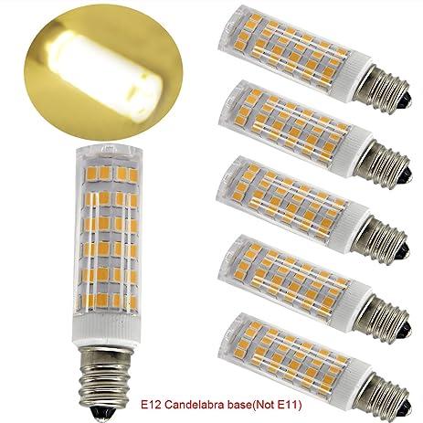 Ulight Led E12 led light bulb 120V, Warm White 6W Led E12 ...