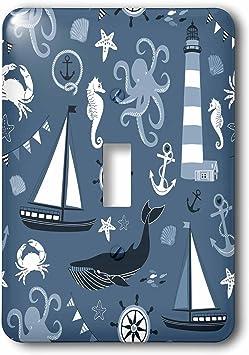 3drose Lsp 179157 1 Blue Nautical Beach Toggle Switch Amazon Com
