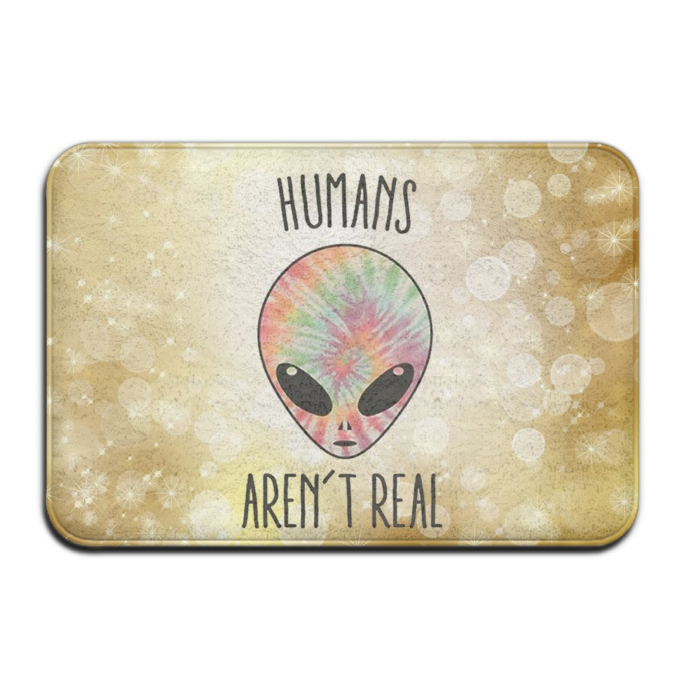 HUMANS AREN'T REAL Anti - Slip Mats Bathrooms Bath Mats Non - Slip Waterproof Kitchen Mats Doors Mats Plastic Mats Carpet by Kumuui (Image #1)