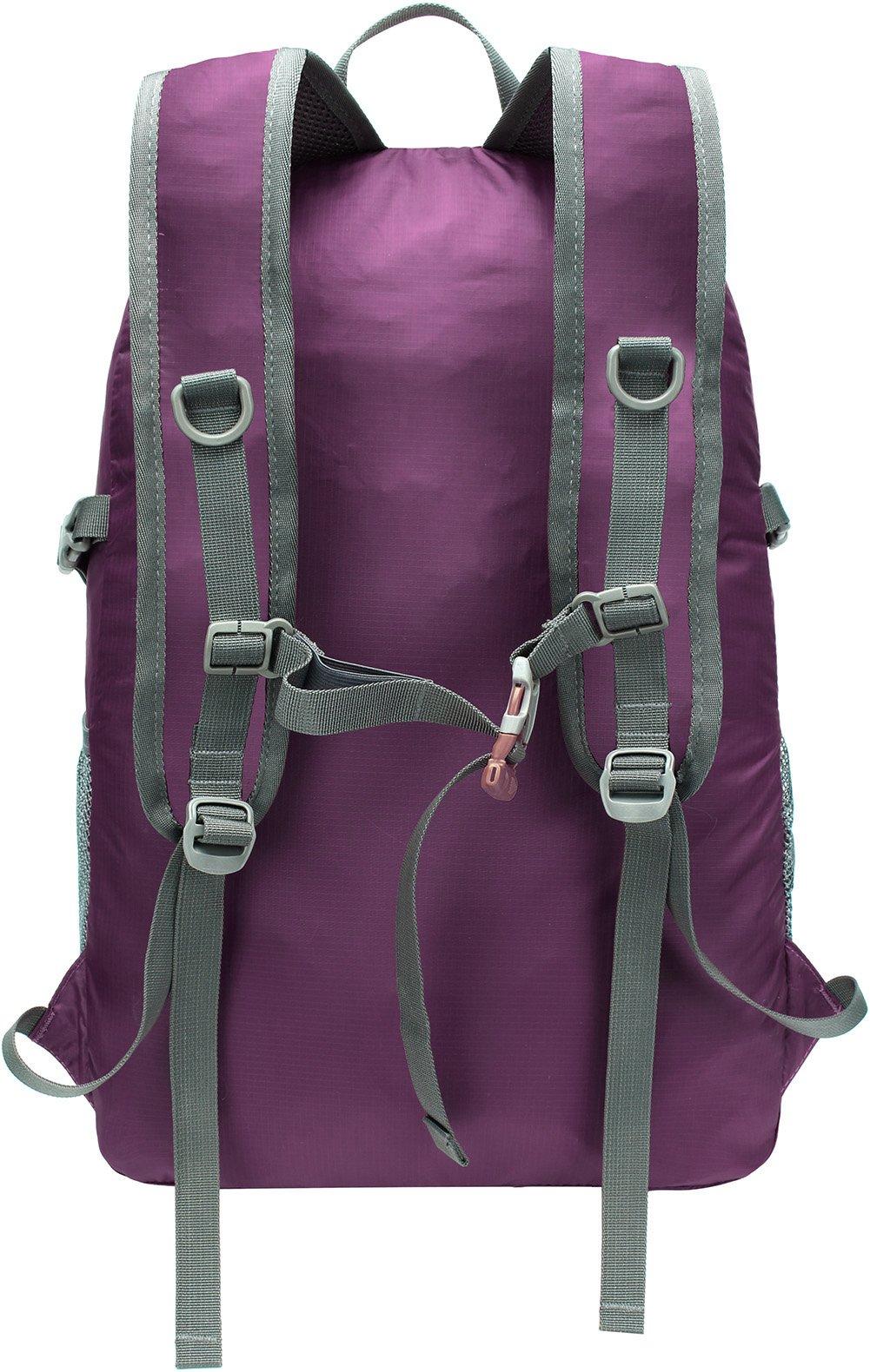 Mubasel Gear Backpack - Lightweight Backpacks for Travel Hiking - Daypack for Women Men (Purple) by Mubasel Gear (Image #2)