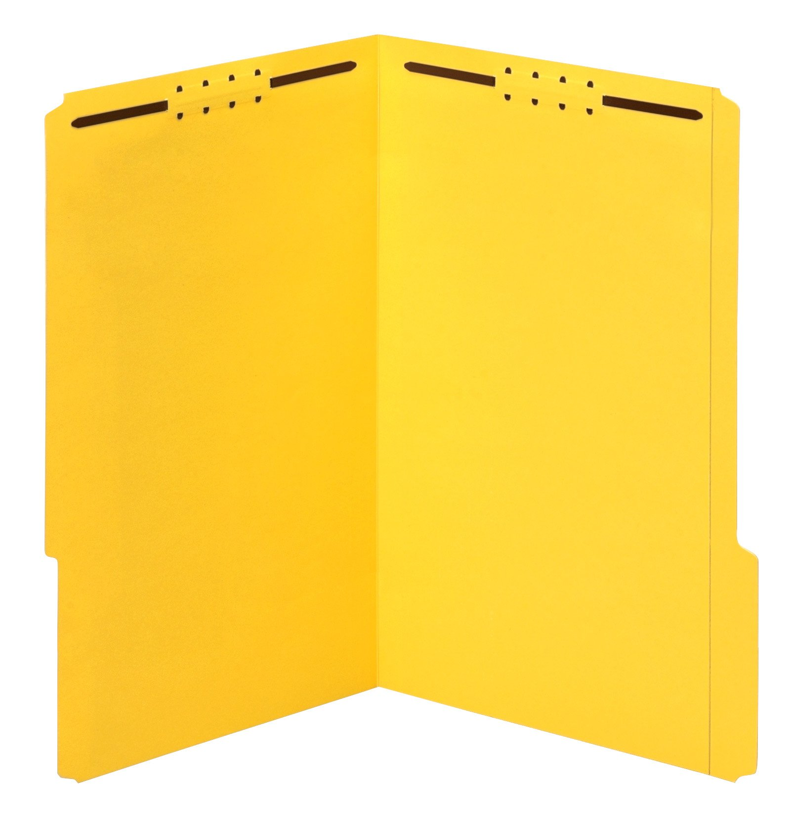 Globe-Weis/Pendaflex Fastener Folders, 1/3 Cut, Reinforced Tab, 2 Fasteners, Legal Size, Yellow, 50 Folders Per Box (27940)