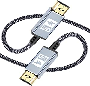 4K UHD HDMI Cable 10m / 33ft,Sweguard 18Gbps High Speed HDMI 2.0a/b Cable 4K@60Hz 4:4:4 2K@144Hz Braided HDMI to HDMI Cable Supports 3D UHD 2160p HD 1080p Ethernet HDCP 2.2 ARC Compatible PS4/3,Blu-ray,Sky,Monitor,Laptop,PC