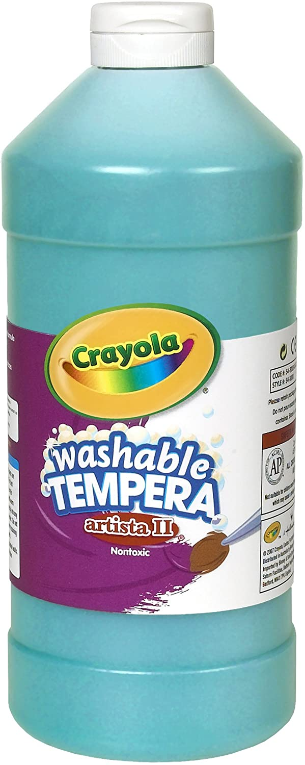 Crayola Tempera Paint, Turquoise, 32 Ounces, Washable Kids Paint